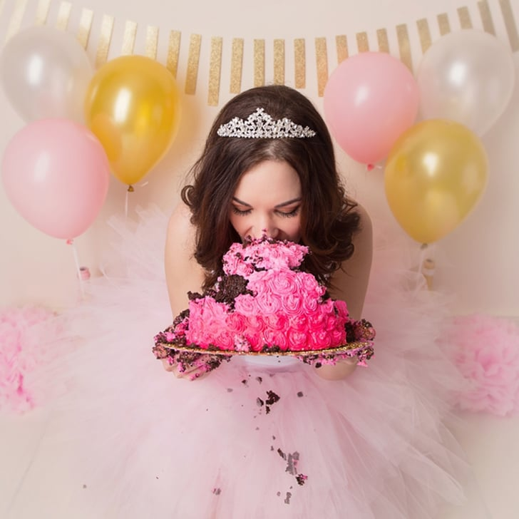 Adult Cake Smash Birthday Photos Popsugar Family