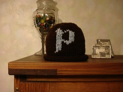 Hand Knit Monogrammed Hat