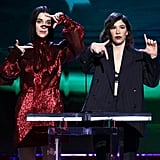 St. Vincent and Carrie Brownstein at the 2020 Spirit Awards