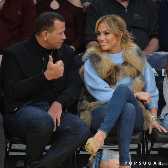 Jennifer Lopez Wearing Vest at Basketball Game