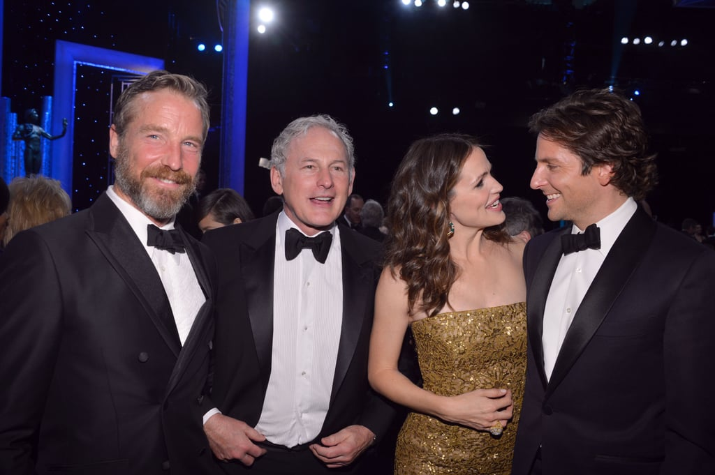 Jennifer Garner and Bradley Cooper got camera ready with Victor Garber and his partner Rainer Andreesen at the SAGs.