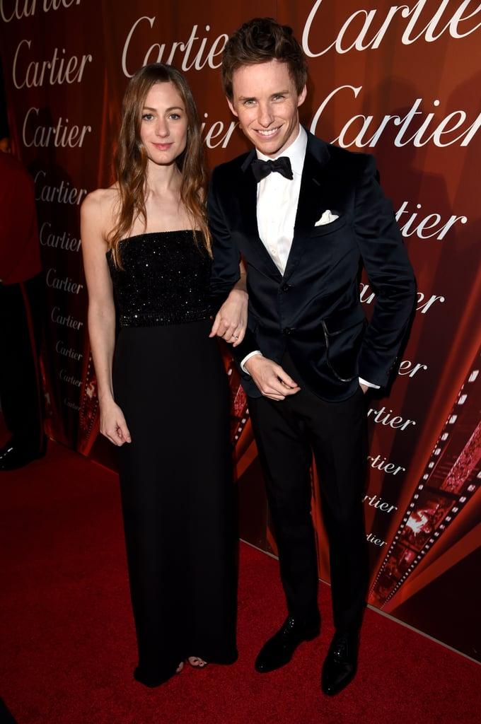 Eddie Redmayne and Hannah Bagshawe at Palm Springs Film Fest