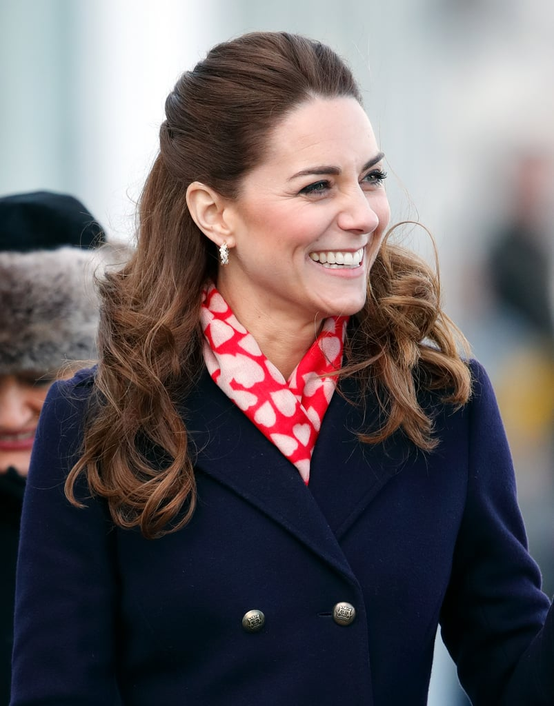 Kate Middleton's Curly Half-Up Hairstyle, 2020