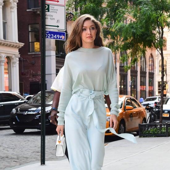 Gigi Hadid in White Stuart Weitzman Boots