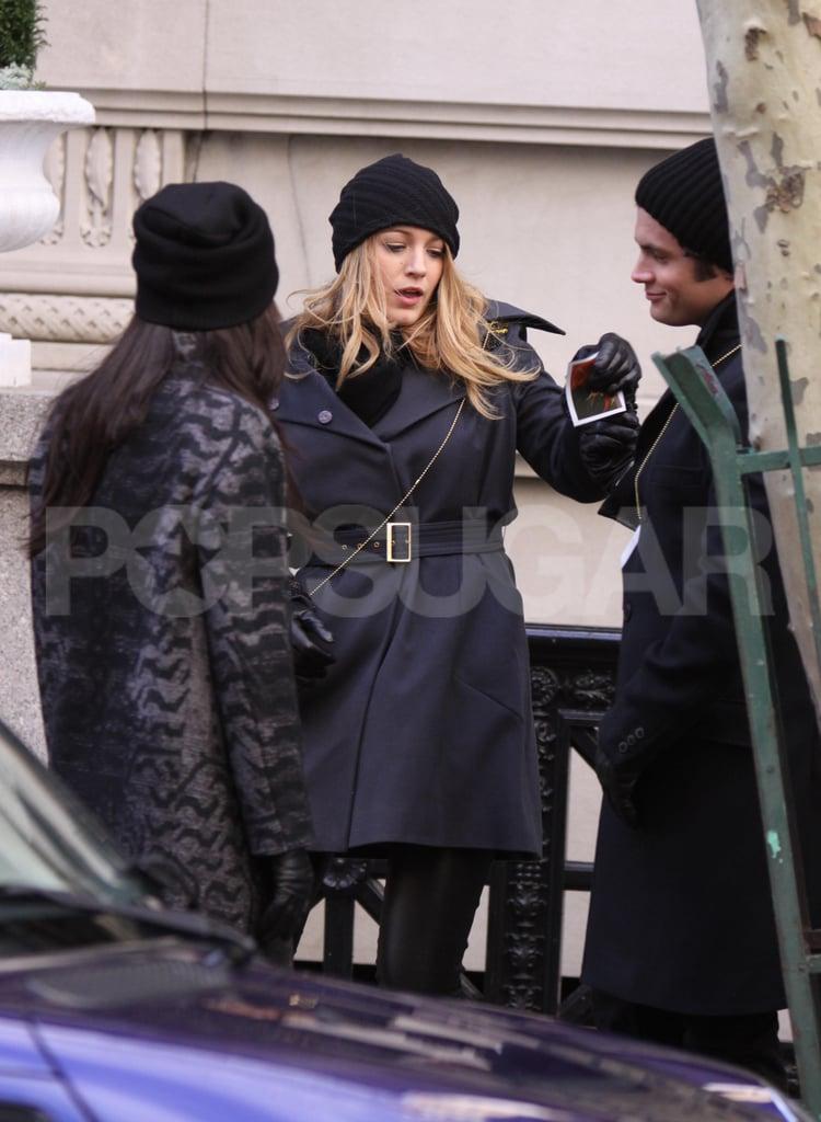 Photos of Gossip Girl Cast on Set in New York City