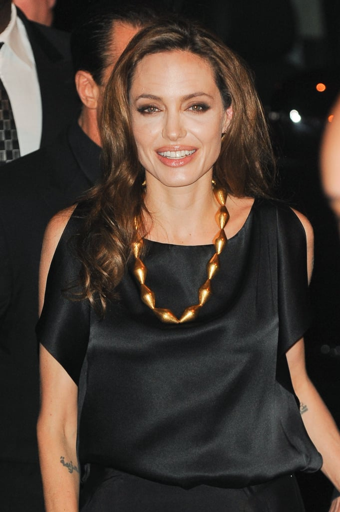 Angelina Jolie made her way to the In the Land of Blood and Honey afterparty.