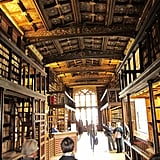 If you want to see Duke Humfrey's medieval library in the Bodleian Library, you'll need to purchase at least the mini tour. Photos aren't allowed, so I can't show you the reading room featured in the first two films and Harry Potter and the Half-Blood Prince, but here's a part of the library.