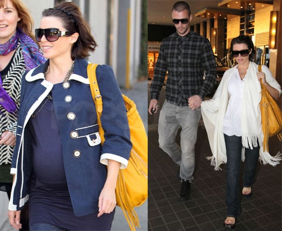 Pictures of Pregnant Dannii Minogue Out with Kris Smith in Sydney