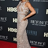 Beyoncé gave us a side view of her Elie Saab gown.