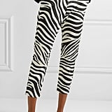 Nili Lotan Paris cropped zebra-print cotton-blend poplin pants