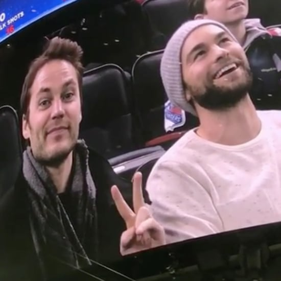 Taylor Kitsch and Chace Crawford at NY Rangers Game 2016