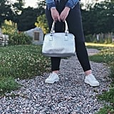 Silver Weave Teardrop Insulated Cooler Lunch Handbag