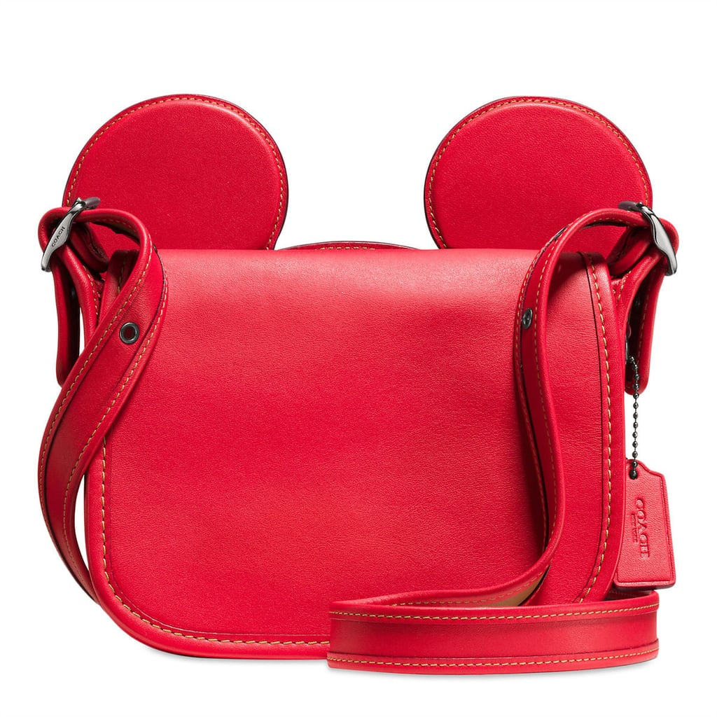 Mickey Mouse Ears Patricia Leather Saddle Bag by Coach — Red ($280)