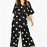 Boohoo Oversized Polka Dot Jumpsuit
