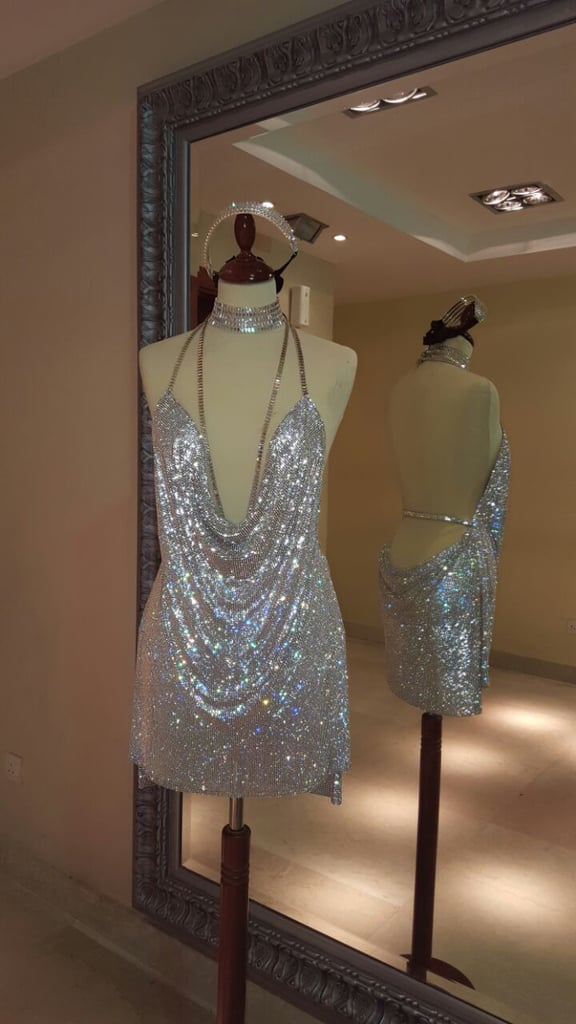 Kendall's dress on a mannequin before she wore it.
