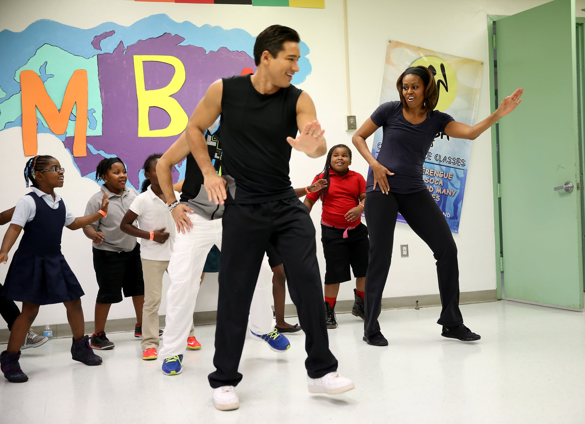 When She Did Zumba With Mario Lopez And Young Girls Confirming