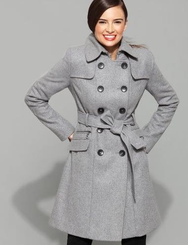 DKNY Abby Wool Blend Trench ($240, originally $380)