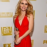 Claire Danes posed for cameras with her Golden Globe.