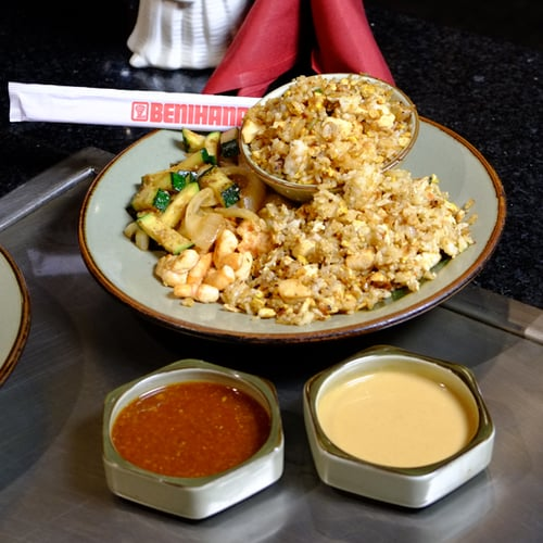 Benihanas fried rice recipe video popsugar food chicken fried rice ccuart Image collections