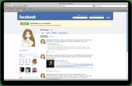 Join Bella on Facebook!