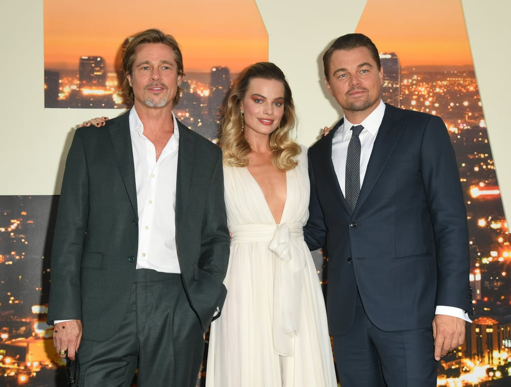 Brad Pitt, Margot Robbie, and Leonardo DiCaprio at the Once Upon a Time in Hollywood premiere in LA.