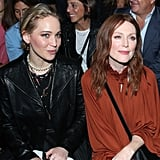 Jennifer Lawrence and Julianne Moore at Paris Fashion Week