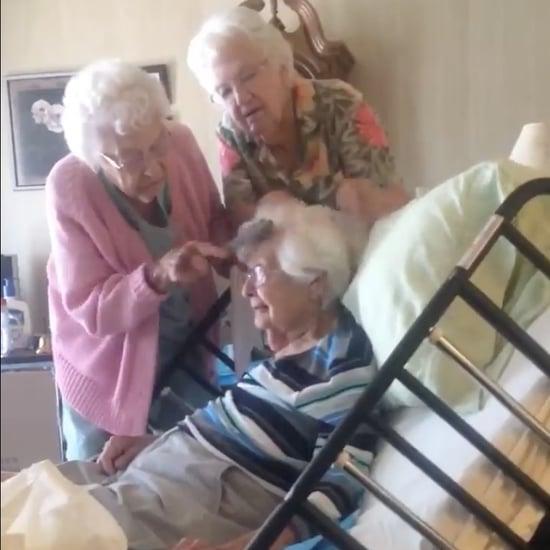 Elderly Women Fixing Sister's Hair