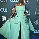 Billy Porter's Seafoam Green Dress at the 2020 Critics' Choice Awards