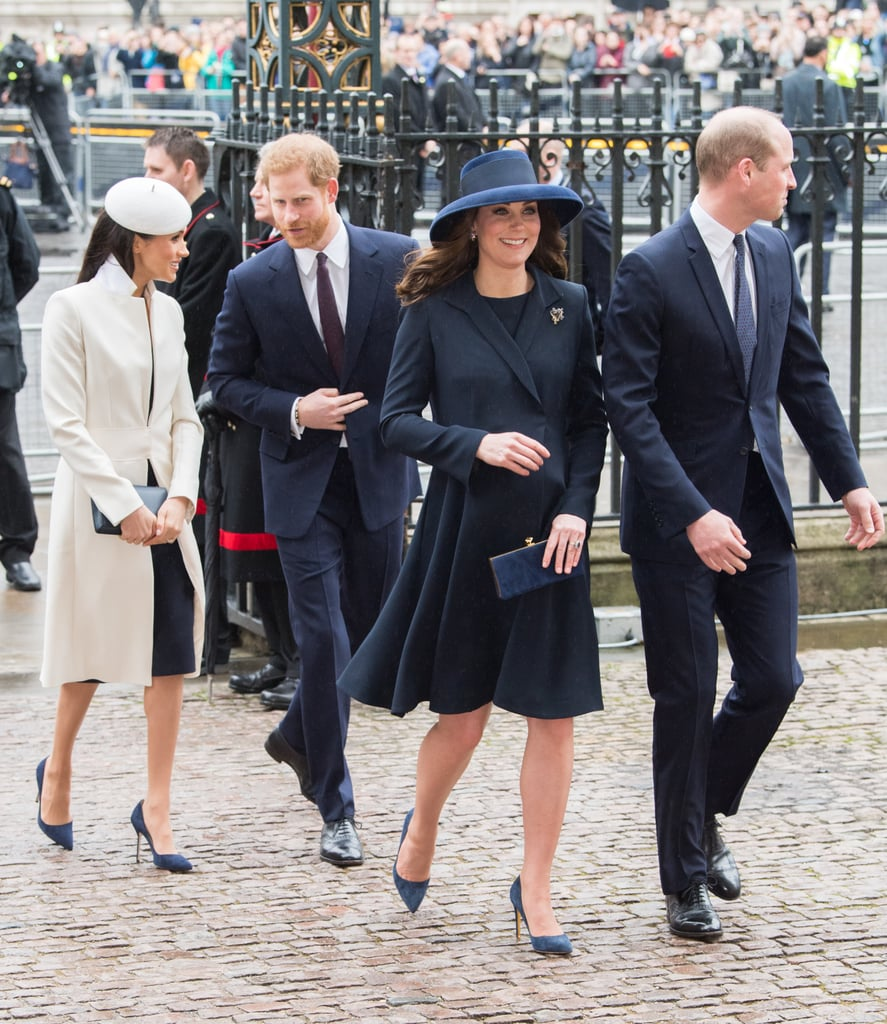 "It might only be their second joint royal engagement, but Prince Harry, Meghan Markle, Kate Middleton, and Prince William already look like the cutest team. On Monday, the royals attended the Commonwealth Day service at Westminster Abbey in London, where they joined people from around the Commonwealth to celebrate this special day. Aside from Meghan breaking royal protocol (something she is no stranger to) to spend Christmas with the royal family, this is the first time the four of them joined the queen for an official engagement.  Last week, the ""fab four"" attended and spoke at the Royal Foundation Forum, discussing the charities they feel passionate about. During the event, Meghan explained how she will officially join the foundation after her and Prince Harry's wedding in May, before describing her close bond with the royal family.  Since joining the royal family, Meghan seems to have been adapting to royal life quite well. She's been getting closer to her new BFF, Kate, and it's been reported that the two have even been exchanging tips. Ahead, see more photos of the royal team at the Commonwealth Day service."