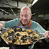 Andrew Zimmern Got Playful With Paella
