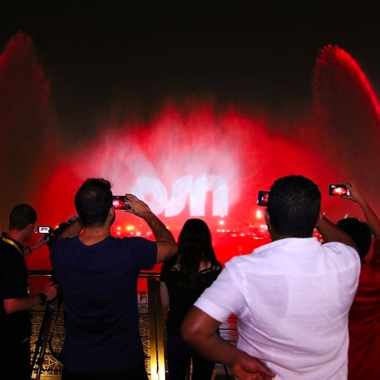 OSN Playing Game of Thrones Show on Water Screen in Dubai