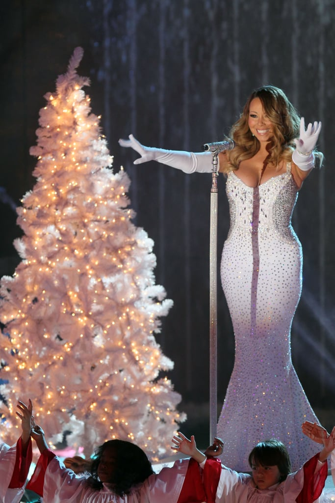 In 2013, Mariah Carey took the stage at the 81st annual tree lighting ceremony at the Rockefeller Center in NYC.