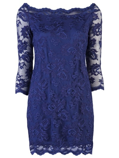 This gorgeous lace sheath would be fantastic at a more conservative wedding — and would easily become a cocktail-dress staple as well.  Olvi's Tunic Dress ($392)