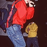 JT gets down at Teen People's First Anniversary Party in 1999.