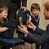 Prince Harry bonded with a little boy in October when he attended the WellChild Awards in London.
