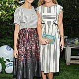 Kyleigh Kuhn and Kate Foley at Harper's Bazaar's Art Basel party.