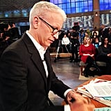 Andy Cohen took a picture of his friend and fellow TV host Anderson Cooper. Source: Instagram user bravoandy