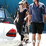 Miley Cyrus and Liam Hemsworth were out in LA.