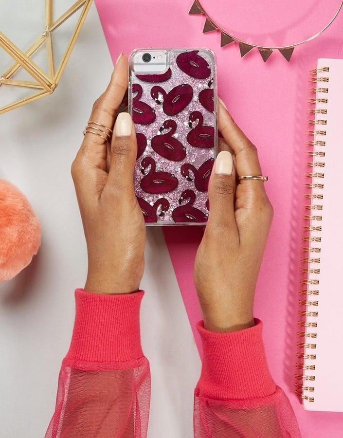 Skinnydip Flamingo Liquid Glitter iPhone 6/6S/7 Case ($28)