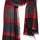 Mossimo Oversized Woven Plaid Scarf