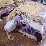 Lemon Ice Cream Sandwiches With Blueberry Swirl