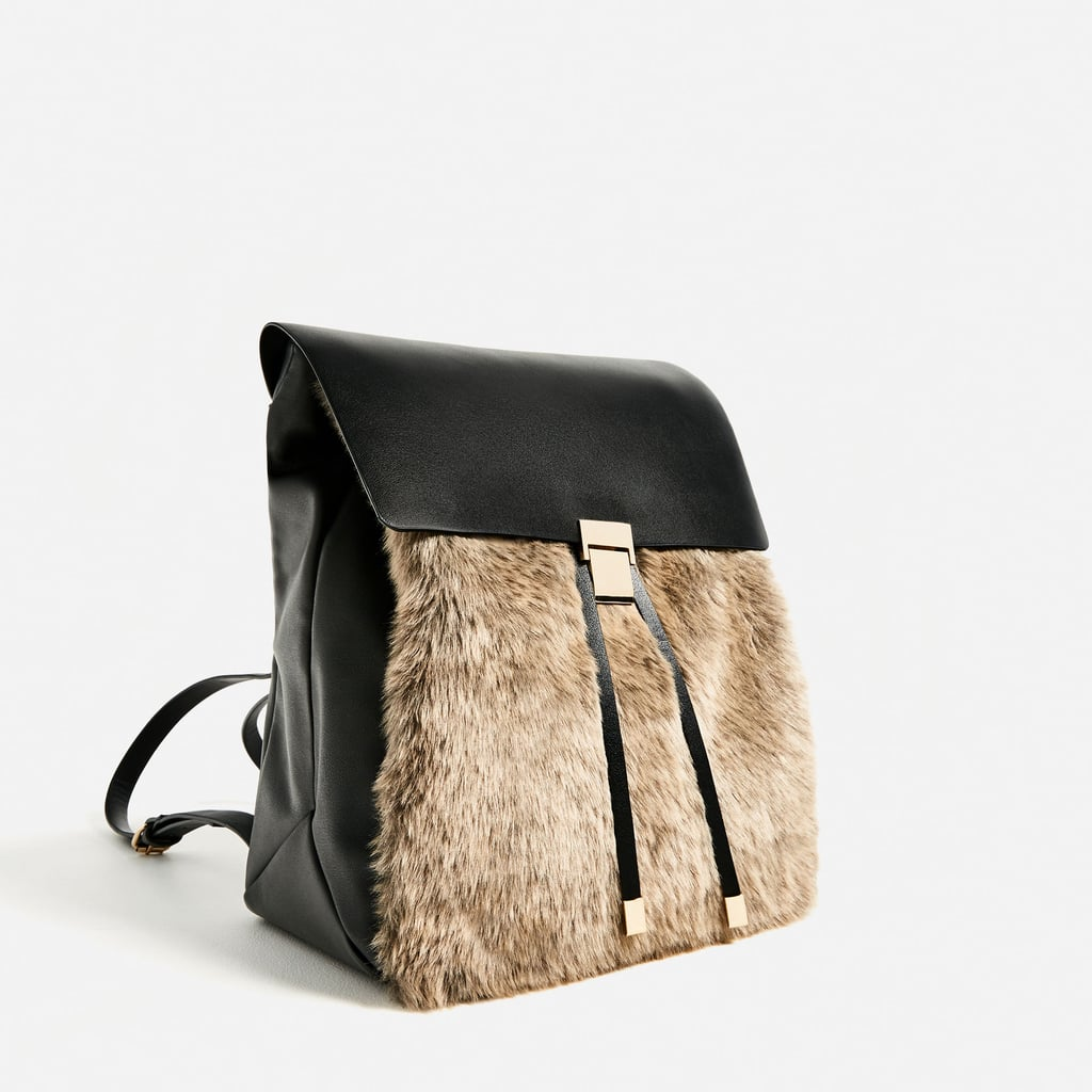 """""""It took me all of one minute to decide that I wanted to buy this special furry backpack from Zara ($60). Now I just have to play the waiting game for my package to arrive."""" — ML"""