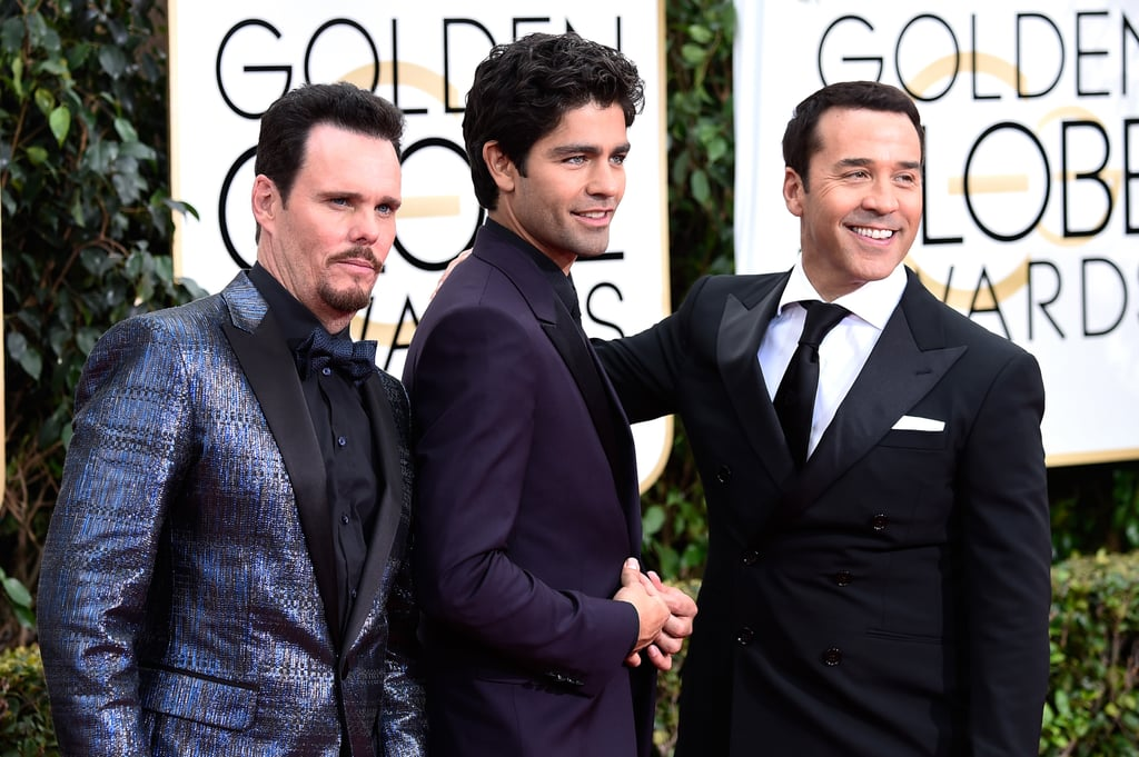 Drama (Kevin Dillon), Vince (Adrian Grenier), and Ari (Jeremy Piven) struck a pose.