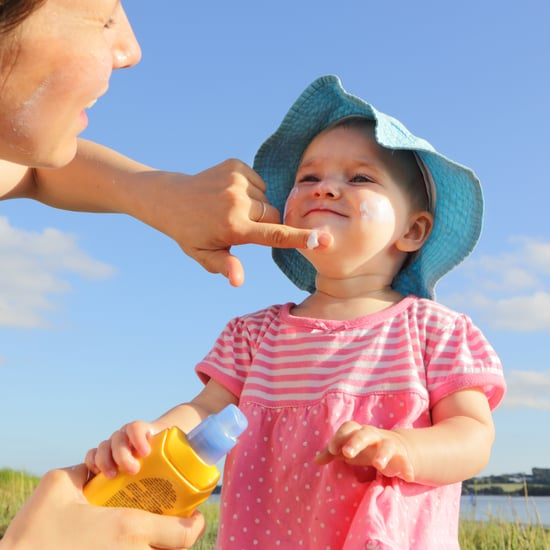 Makeup Brush Sunscreen Hack For Toddlers