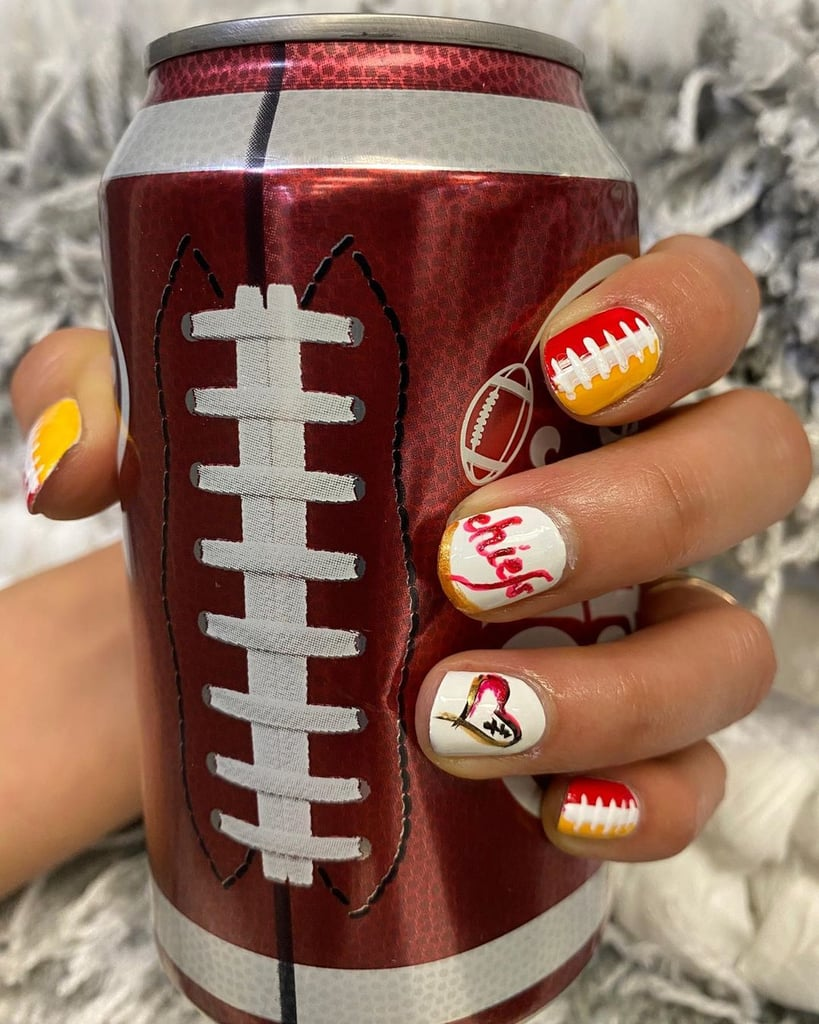 The Only Thing Better Than the Food At Your Super Bowl Party? These Nail Art Looks