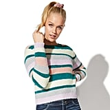 Vylette Stripe Eyelash Sweater
