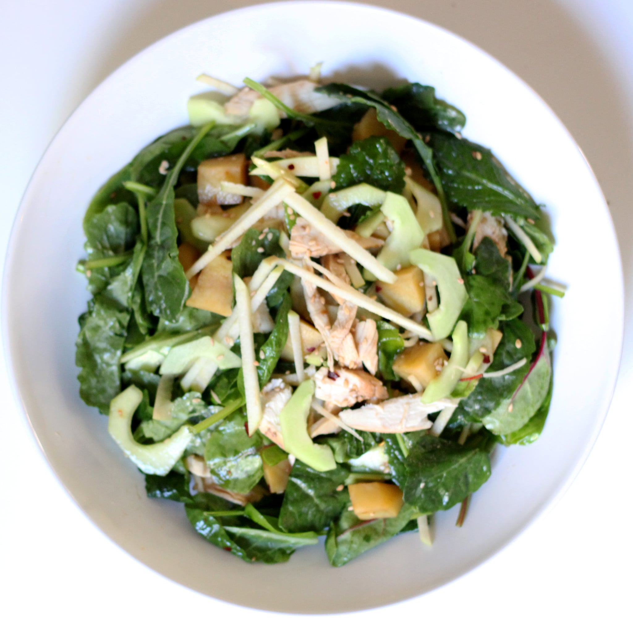 Baby Kale Sesame Chicken Salad Recipe Popsugar Fitness