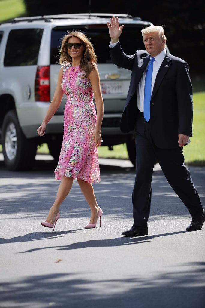 Melania Trump's Pink Dress Was a Major Style Departure From Her Usual Look
