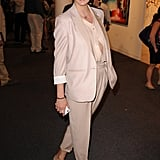 Supermodel Linda Evangelista flew to Miami for Art Basel, hence why her ensemble is so Springy. I love the monochrome, airy feel.