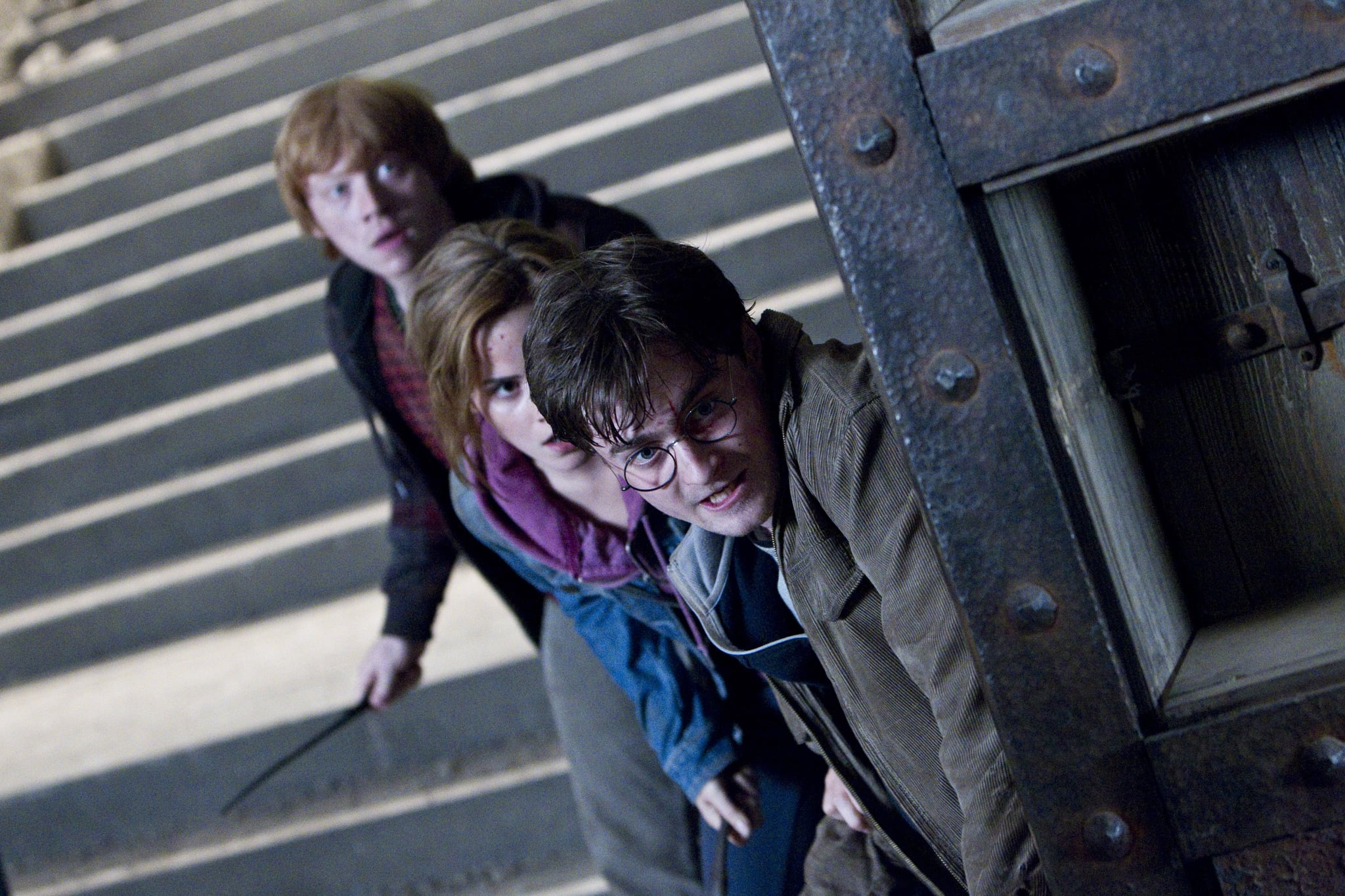 HARRY POTTER AND THE DEATHLY HALLOWS: PART 2, from left: Rupert Grint, Emma Watson, Daniel Radcliffe, 2011. ph: Jaap Buitendijk/2011 Warner Bros. Ent. Harry Potter publishing rights J.K.R. Harry Potter characters, names and related indicia are trademarks of and Warner Bros. Ent. All rights reserved./Courtesy Everett Collection